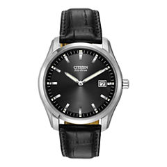 Citizen® Eco-Drive® Mens Black Leather Watch AU1040-08E