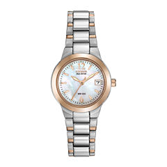 Citizen® Eco-Drive® Womens Two-Tone Mother-of-Pearl Watch EW1676-52D