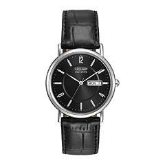 Citizen® Eco-Drive® Mens Black Leather Strap Watch BM8240-03E