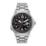 Citizen® Eco-Drive® Nighthawk Flight Mens Stainless Steel Watch  BJ7000-52E