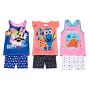 Disney Apparel by Okie Dokie® Tank Top, Bike Shorts or Bow-Back Tank Top - Toddler Girls 2t-5t