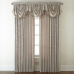 Royal Velvet® Chenille Scroll Rod-Pocket/Back-Tab Window Treatments