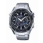 Casio® Edifice Mens Stainless Steel Multifunction Watch EQS500DB-1A1