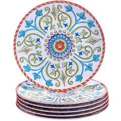 Certified International Tuscany Melamine Set of 6 Salad Plates