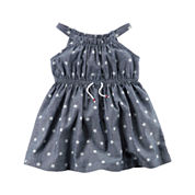 Carter's Short Sleeve A-Line Dress - Baby Girls