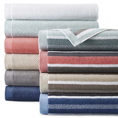 JCPenney Home™ Generous Solid and Stripe Towel Collection