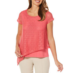 Rafaella Short Sleeve Layered Top