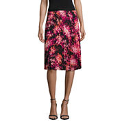 Worthington Floral Pleated Skirt