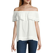 Alyx Sleeveless Round Neck Crepe Blouse