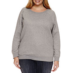 Liz Claiborne Long Sleeve Sweatshirt-Plus