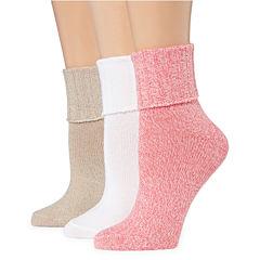 Mixit 3 Pair Turncuff Socks