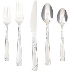 Cambridge® Tabitha Sand Swirl 45-pc. Flatware Set