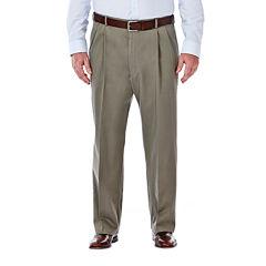 Haggar® Work to Weekend® Pleated Pants–Big & Tall