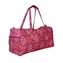 Waverly Paisley Quilted Duffle Tote Bag