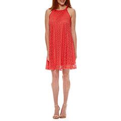 Secret Charm Sleeveless Trapeze Dress