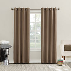 Sun Zero Erin Room-Darkening Triple Lined Grommet Curtain Panel