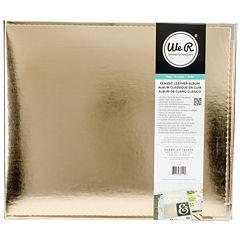 3-Ring Leather Album - Gold