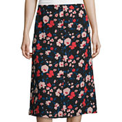 Lily Black Button-Front Midi Skirt