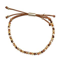 Bridge Jewelry Womens Yellow Crystal Silver Over Brass Wrap Bracelet