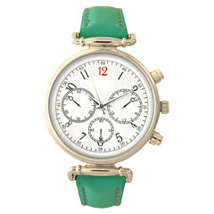 Olivia Pratt Womens Green Strap Watch-16557