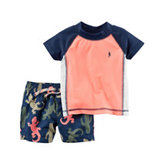 Carter's Solid Rash Guard Set - Baby