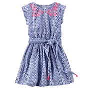 Carter's Short Sleeve Cap Sleeve A-Line Dress - Toddler Girls