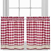 Buffalo Check Rod-Pocket Kitchen Curtains