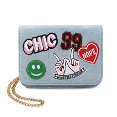 Olivia Miller Audra Chic Patch Crossbody Bag