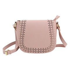 Olivia Miller Kaya Perforated Saddle Crossbody Bag