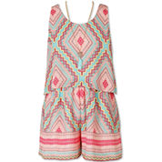 Speechless Sleeveless Romper - Big Kid