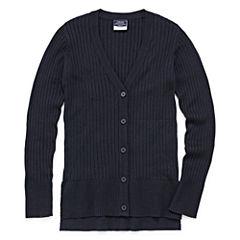Izod Exclusive V Neck Long Sleeve Knit Cardigan - Big Kid