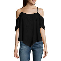 a.n.a Cold Shoulder Embroidered Blouse
