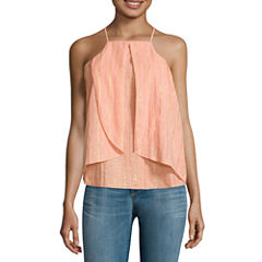 a.n.a Sleeveless Ruffle Shine Blouse