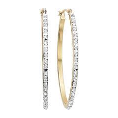 Diamond Fascination™ 14K Yellow Gold Diamond Accent Oval Hoop Earrings