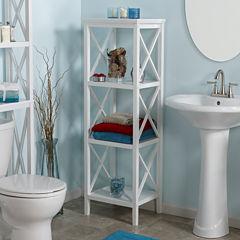 Riverridge Home 4-Shelf Bathroom Shelf