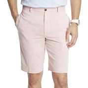 IZOD® Corded Stripe Flat-Front Shorts