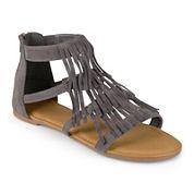 Journee Collection Zana Fringe Gladiator Sandals