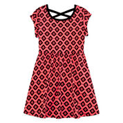 Okie Dokie® Crossback Dress - Preschool Girls 4-6x