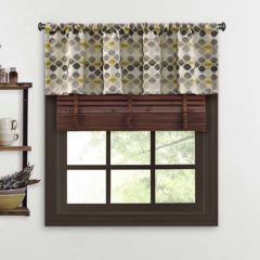 geometric valances curtains & drapes for window - jcpenney