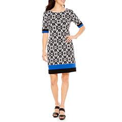R & K Originals Elbow Sleeve Sheath Dress