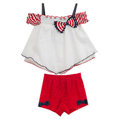 Rare Editions 2-pc. Short Set Toddler Girls
