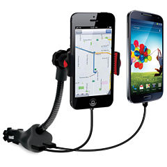 DreamGear DG-iSound-5471 Dual USB Power Mount and Car Charger