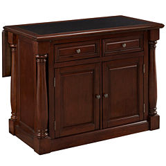 Montmarte Cherry Granite-Top Kitchen Island