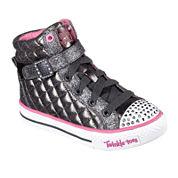 Skechers® Twinkle Toes Shuffles Sweetheart Sole Girls High Top Sneakers - Little Kids/Big Kids