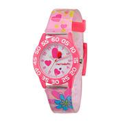 Red Balloon™ Girls Pink Heart Bracelet Watch