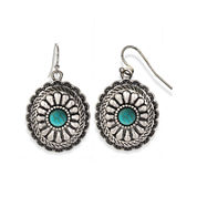 Mixit™ Reconstituted Turquoise Oval Drop Earrings