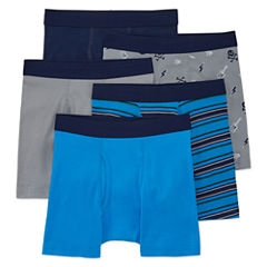 Arizona 4-pk. Boxer Briefs plus Bonus Pair- Boys 2-20