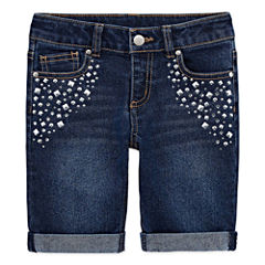 Total Girl Denim Bermuda Shorts - Preschool Girls