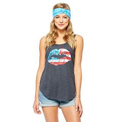 Americana Tank Top + Headband-Juniors