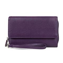 Mundi Big Fat Better Than Leather Wristlet RFID Blocking Wristlet Wallet